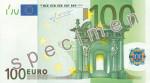 Bankovka 100 Euro (líc)