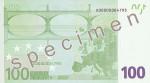Bankovka 100 Euro (rub)