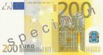 Bankovka 200 Euro (líc)