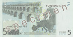Bankovka 5 Euro (rub)